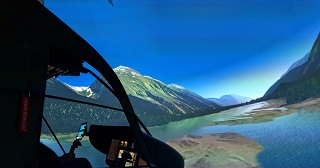 New Helicopter Sim Visual Setup in Zurich, Switzerland